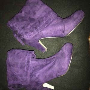 Cute  Purple Ankle Boots